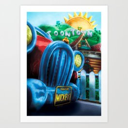 Mickey's Jalopy Art Print