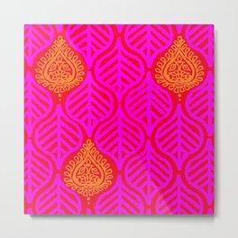 PLANTAIN PALACE - RED/PINK/ORANGE Metal Print