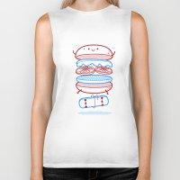 street Biker Tanks featuring Street burger  by SpazioC