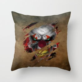Clown 02 Throw Pillow