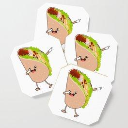 Dabbing Taco Cinco de Mayo Mexican Coaster