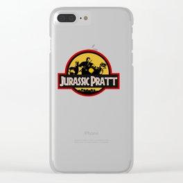 Jurassic Pratt Clear iPhone Case
