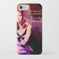 buffy the vampire slayer iPhone & iPod Cases featuring Buffy the Vampire Slayer, Button by Your Friend Elle