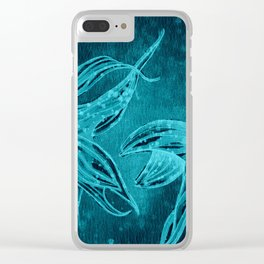 Goldfishes at night Clear iPhone Case