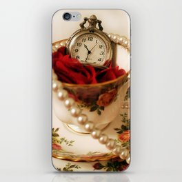 Time For Tea & Pearls!  iPhone Skin