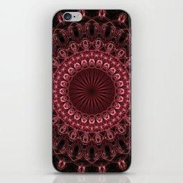 Pretty detailed dark red mandala iPhone Skin