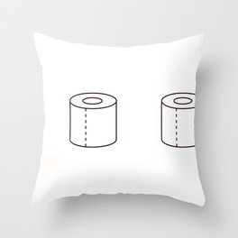 Social Distance Graduating Class of 2020 Senior Toilet Paper Throw Pillow