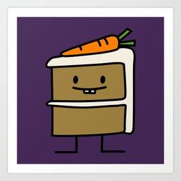 Happy Carrot Cake Art Print