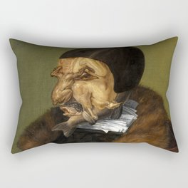 "Giuseppe Arcimboldo ""The jurist"" Rectangular Pillow"