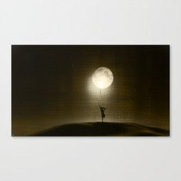 Moon Play Canvas Print