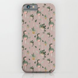 Modern Boho Macrame Plant Hangers Pattern Blush Pink iPhone Case