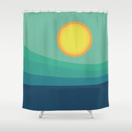 Abstract Landscape - Blue Mountains Shower Curtain