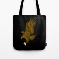 hunting Tote Bags featuring Hunting by Flying Mouse 365