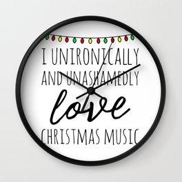 I love christmas music Wall Clock