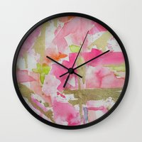 moulin rouge Wall Clocks featuring Rouge by Limezinnias Design