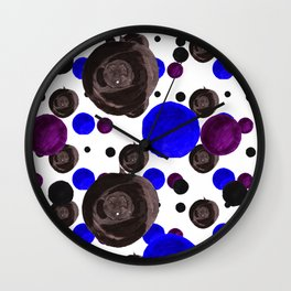 Colorful blowfishes Wall Clock