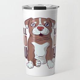 Pit bull Puppy Travel Mug