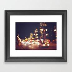 San Francisco Blur Framed Art Print