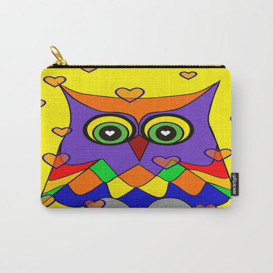 I Love Owls Carry-All Pouch