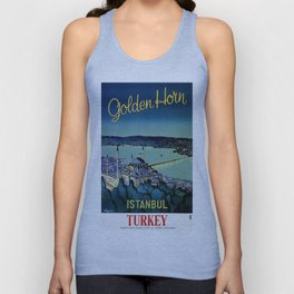 Golden Horn Istanbul Unisex Tank Top