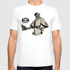 To Bot Or Not To Bot MEDIUM White Mens Fitted Tee