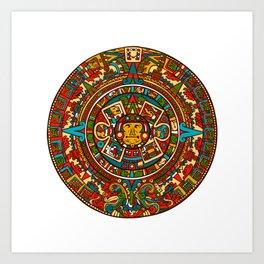 Aztec Mythology Calendar Art Print