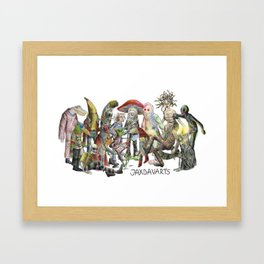 JaxDav Gang Framed Art Print