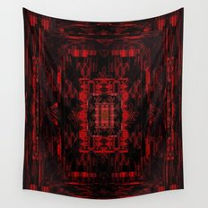 Red Black Pattern 1 Wall Tapestry