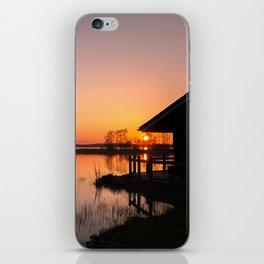 Sunset On A Calm Lake iPhone Skin