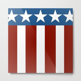 Red White Blue Patriotic Abstract Design Metal Print