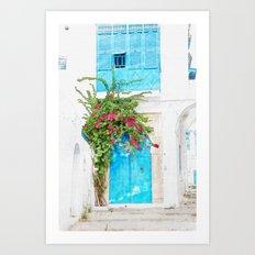 Tunisian door Art Print