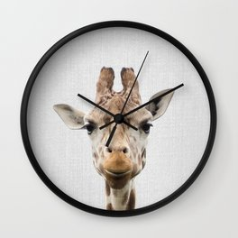 Giraffe - Colorful Wall Clock