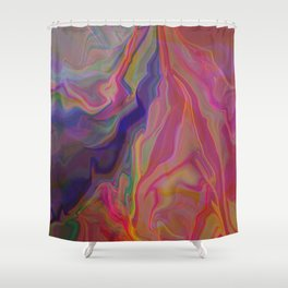 A Cascade of Events Shower Curtain