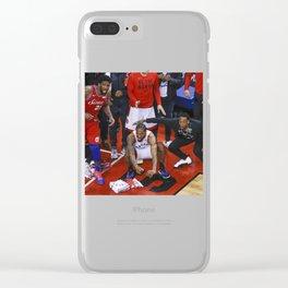 Kawhi Leonard Clear iPhone Case