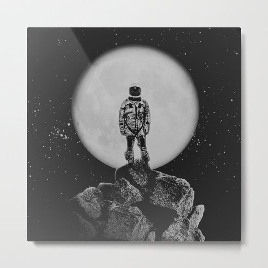 With The Moon Metal Print