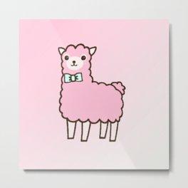 Sheep Pink Metal Print