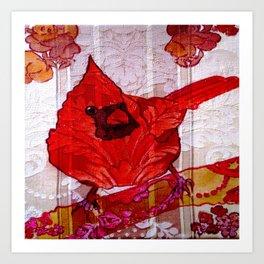 Little Red Bird II Art Print