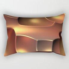 Copper Toned Rectangular Pillow