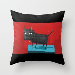 Mystical Cat Throw Pillow