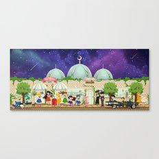 Silver Millennium Retro Cafe Canvas Print