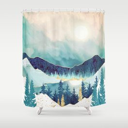 Sky Reflection Shower Curtain