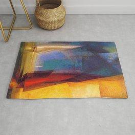 Classical Masterpiece 'Stiller Tag am Meer III' by Lyonel Feininger Rug
