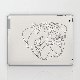 One Line Pug Laptop & iPad Skin