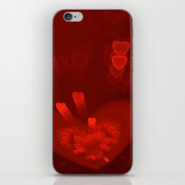 Red Hearts St. Valentine's Galentine's Sweetest Day love Burgundy Bordo Vinous Ruby Garnet Pattern iPhone Skin