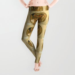 "Alphonse Mucha ""Byzantine Head: The Brunette"" Leggings"