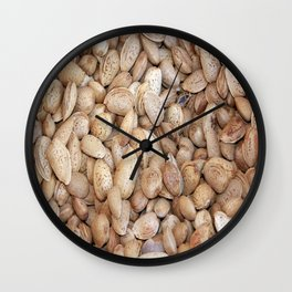 Harvested Almonds Wall Clock