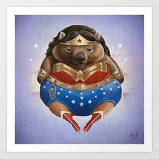 Wonder Wombat Art Print