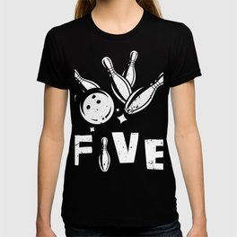 Five Years Old Bowling T-Shirt 5th Bowler Bday Tee T-shirt