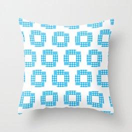 Indigo Shuriken Bloss Throw Pillow