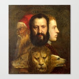 Titian The Allegory of Prudence Canvas Print